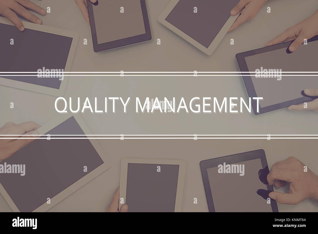 QUALITY MANAGEMENT CONCEPT Business Concept. - Stock Image