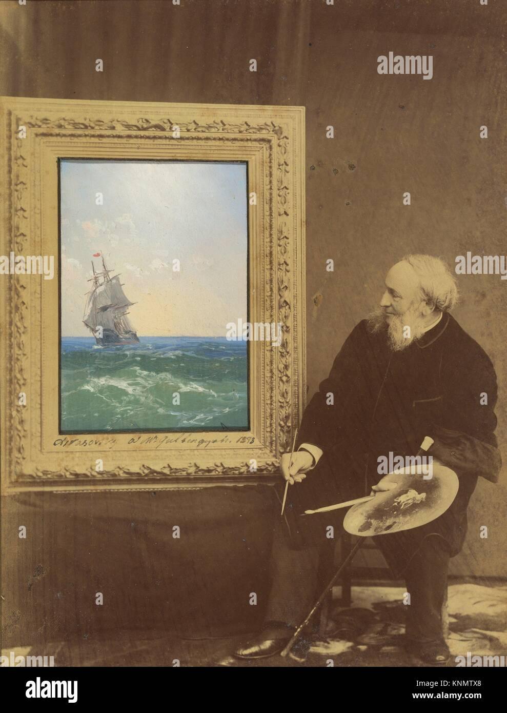 [Ivan Constantinovich Aivasovski]. Photography Studio: Babayeva Studio, Russian (Russian, active 1890s); Artist: - Stock Image
