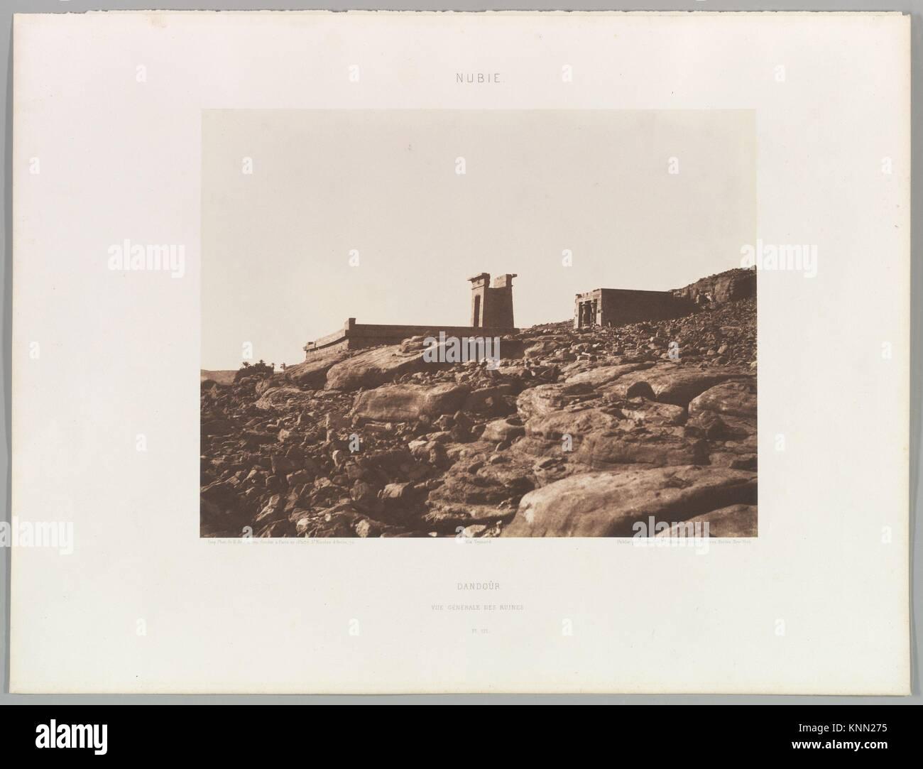 Dandoûr, Nubie. Artist: Félix Teynard (French, 1817-1892); Date: 1851; Medium: Salted paper print from - Stock Image