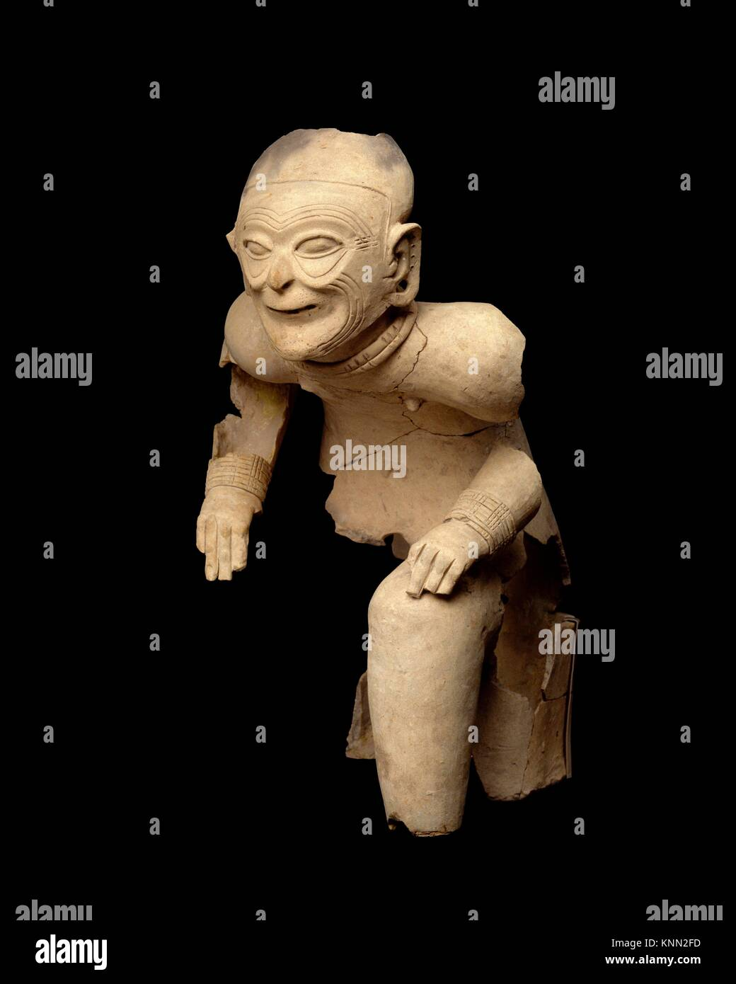 Seated Figure. Date: 1st century B.C.-A.D. 1st century; Geography: Colombia or Ecuador; Culture: Tolita-Tumaco; - Stock Image