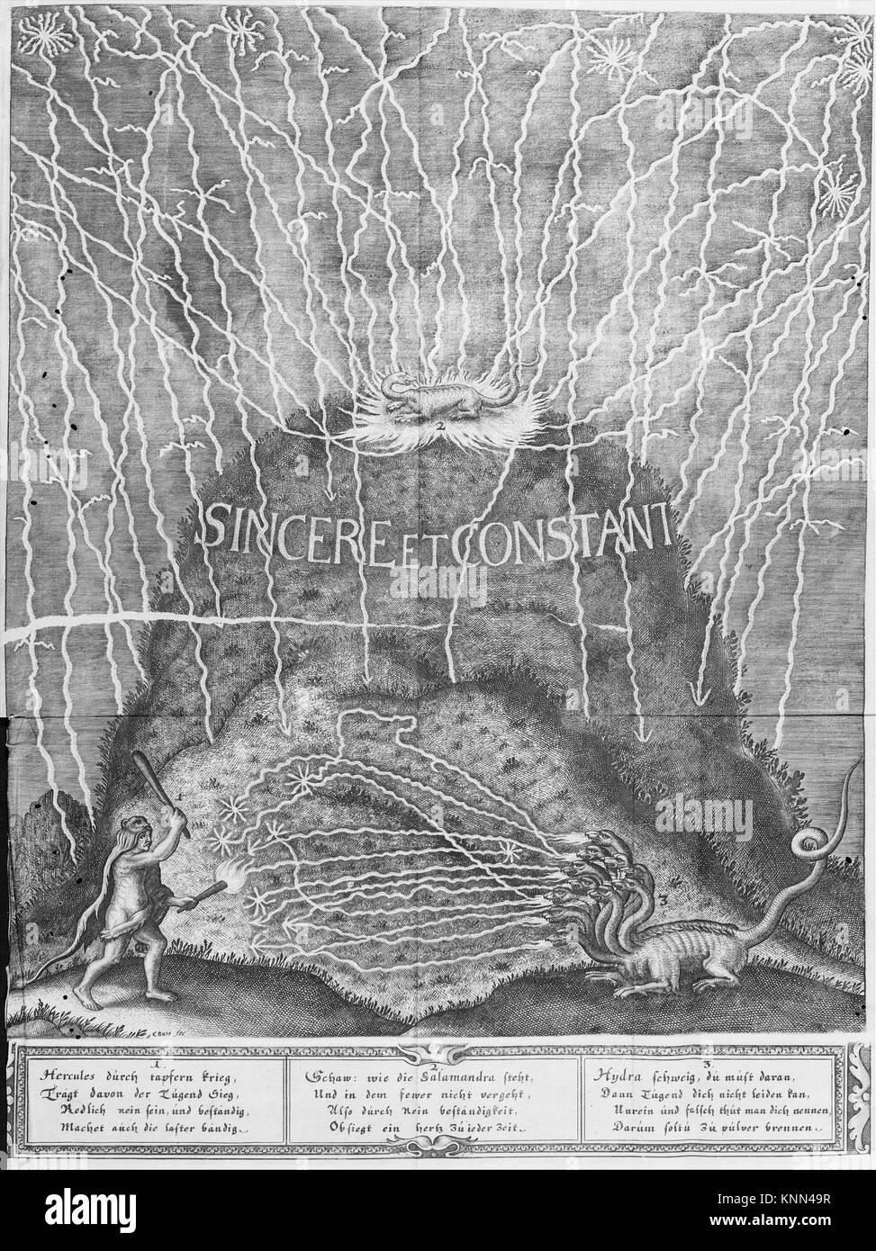 Die Triumphirende Liebe umgeben Mit den Sieghafften Tugenden In einem Ballet Auff dem Hochfürstlichen Beylager. - Stock Image