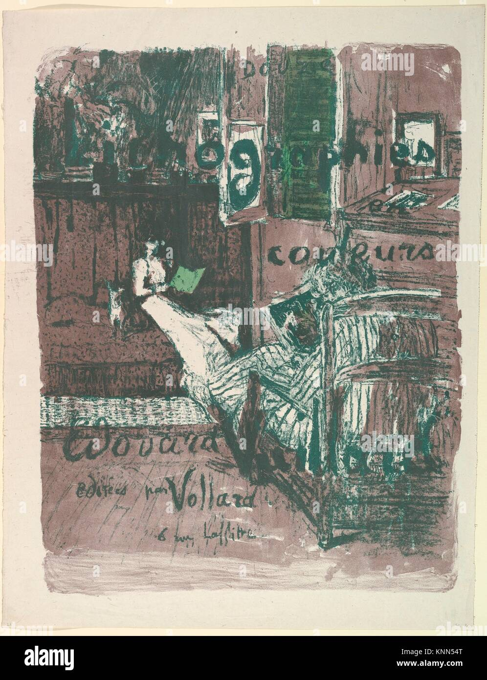 Cover for the album Landscapes and Interiors (Vollard Portfolio). Artist: Édouard Vuillard (French, Cuiseaux - Stock Image