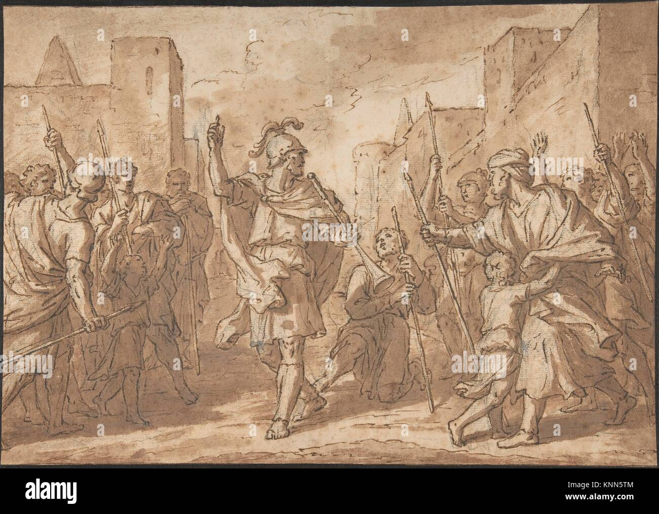 Gideon Gathering His Army, Scene from the Book of Judges. Artist: Étienne Parrocel (French, Avignon 1696-1776 - Stock Image