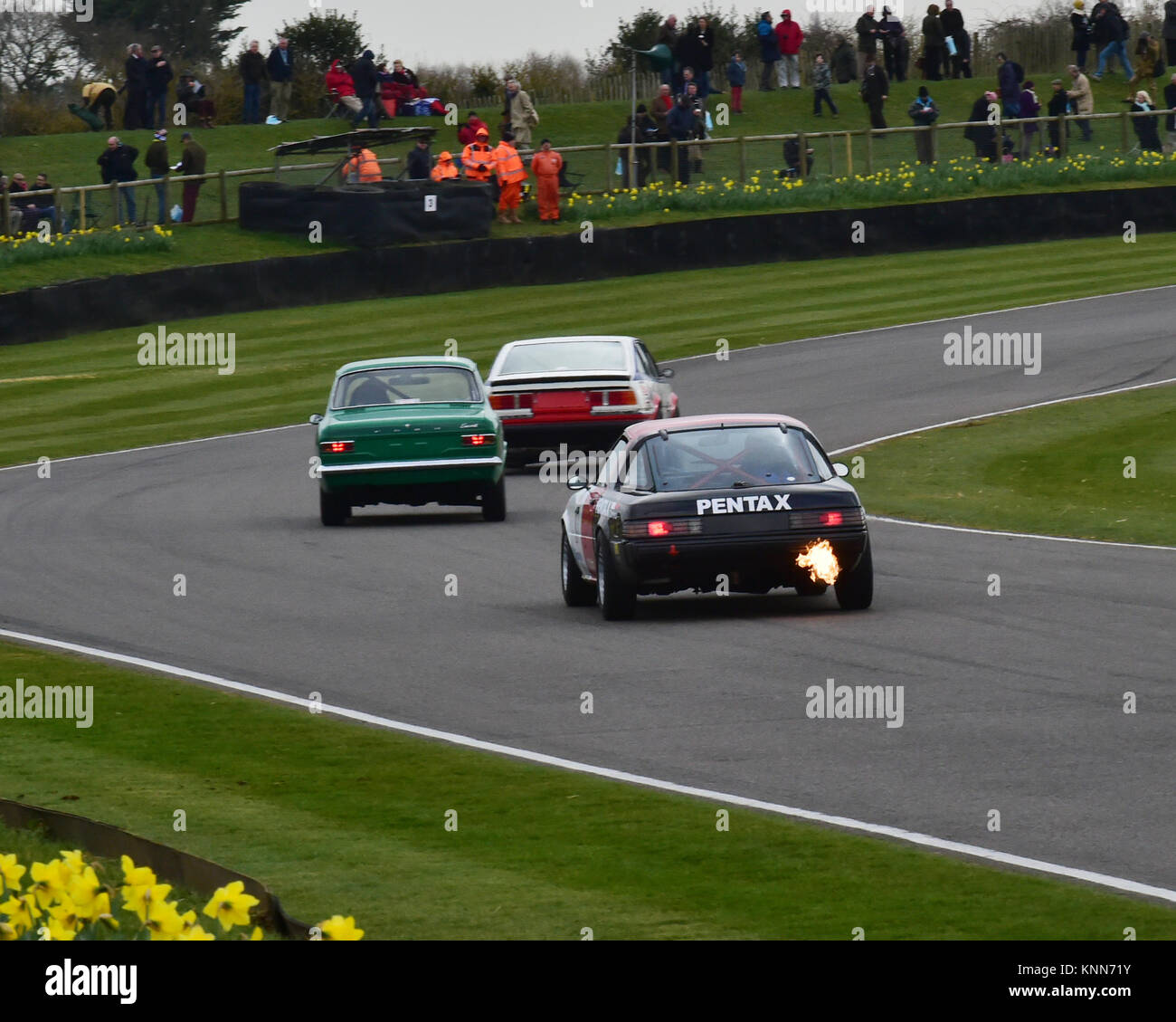 Exhaust Flames On The Entry To Madgwick, ,Ian Cowley, Patrick Watts, Mazda