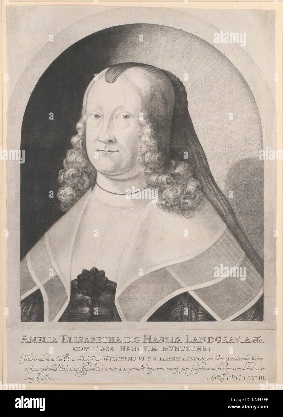 Amelia Elizabeth, Landgravine of Hesse. Artist: Ludwig von Siegen (German, 1609-after 1676); Date: 17th century; Stock Photo