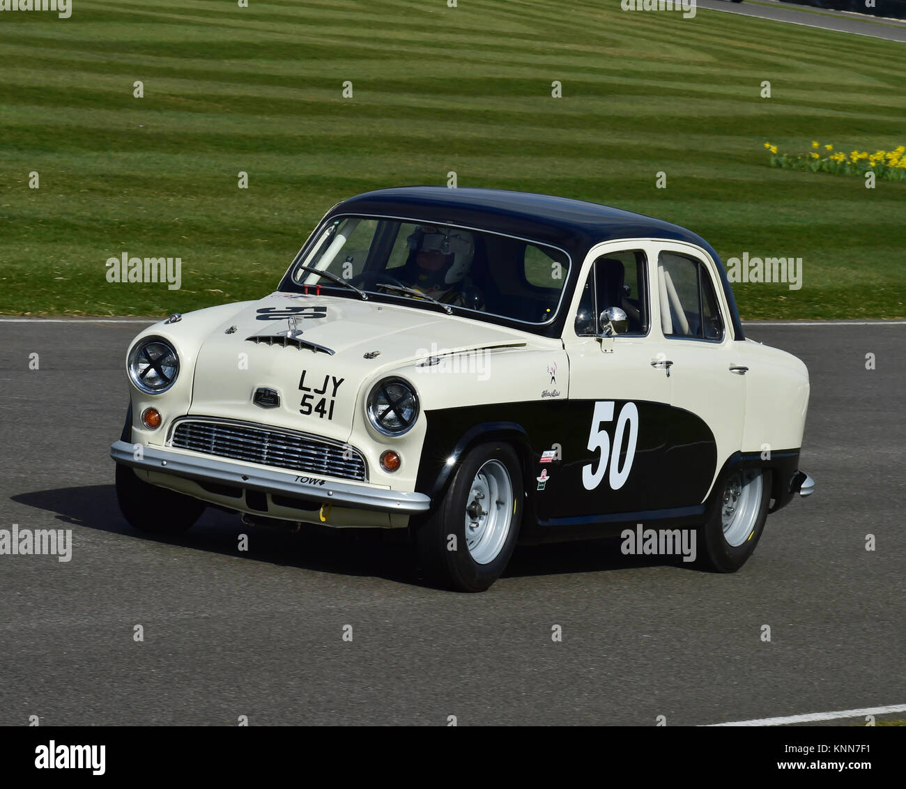 Peter Blanchett, Austin A50, LJY 541, Sopwith Cup, Goodwood 73rd MM March 2015, 73rd, 73rd Members Meeting, Chris - Stock Image
