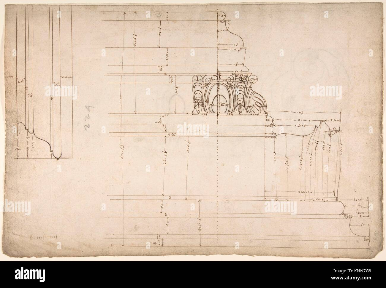 St Peter´s, cornice, exterior, profile (recto) Unidentified Stock