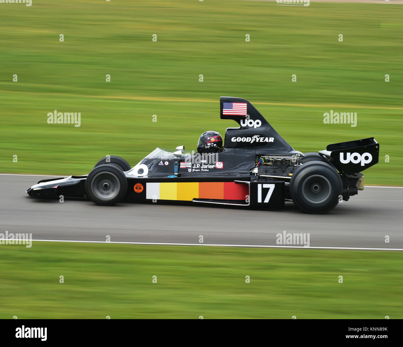 Gregor Fisken, Shadow-Cosworth DN5, High air box F1 Cars, Goodwood 73rd MM March 2015, 73rd, 73rd Members Meeting, - Stock Image