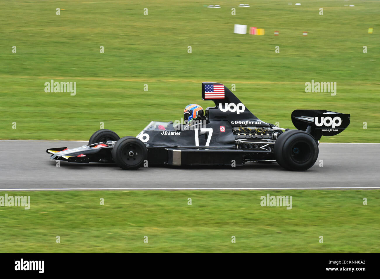 Shadow-Cosworth DN5, High air box F1 Cars, Goodwood 73rd MM March 2015, 73rd, 73rd Members Meeting, Action, Chris - Stock Image
