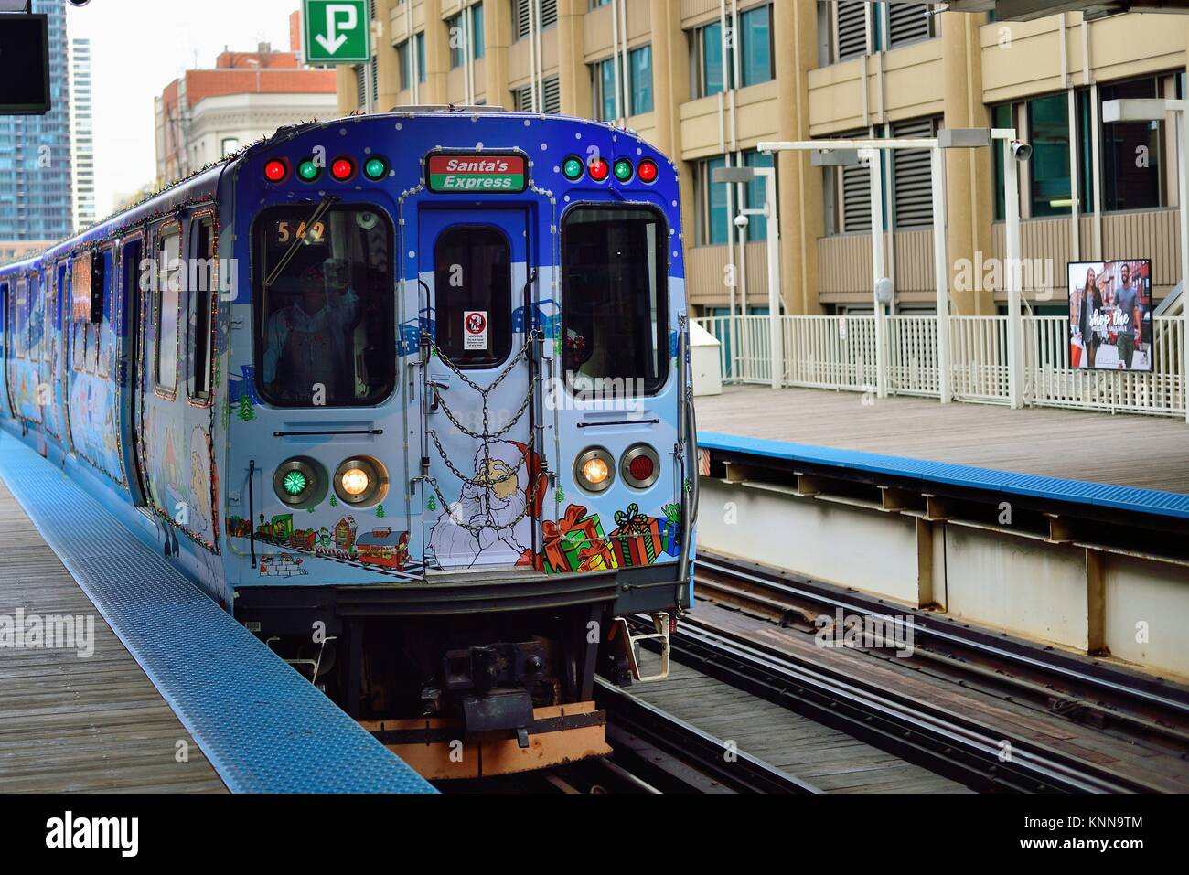 the cta in chicago operates special holiday trains in advance of christmas annually over its entire