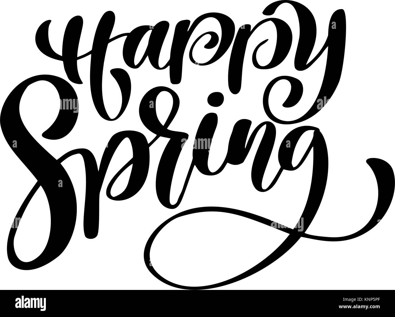 Hand Drawn Calligraphy And Brush Pen Lettering Design For Holiday Greeting Card Invitation Of Seasonal Spring Fun Ink Typography