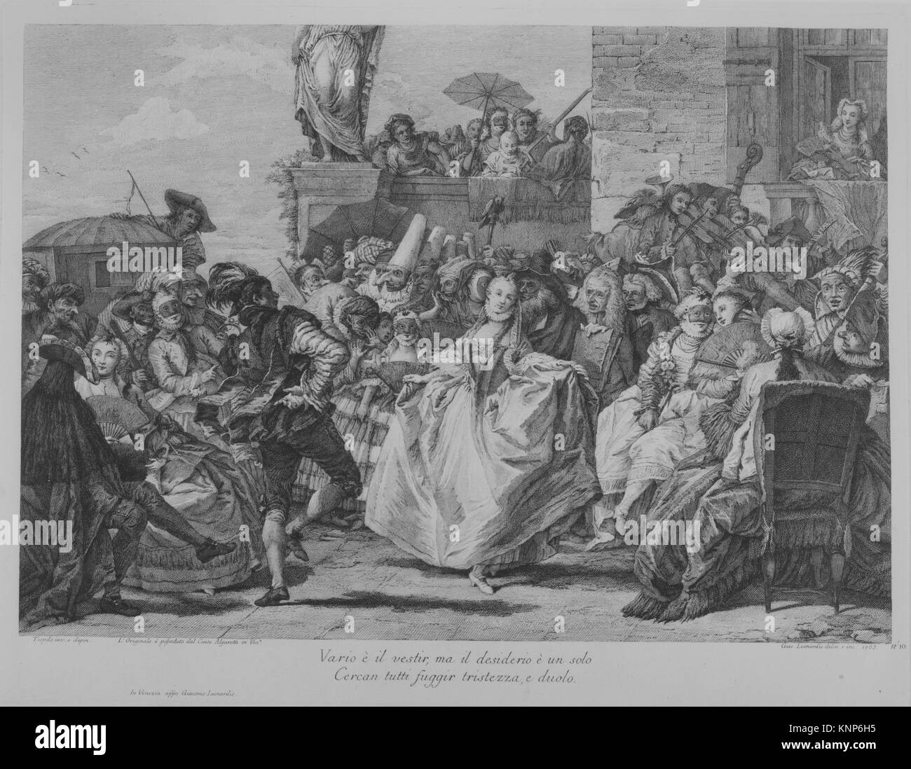 The Minuet. Series/Portfolio: Plate 10 from Selection of Pictures from Venetian Collections, series of nineteen - Stock Image