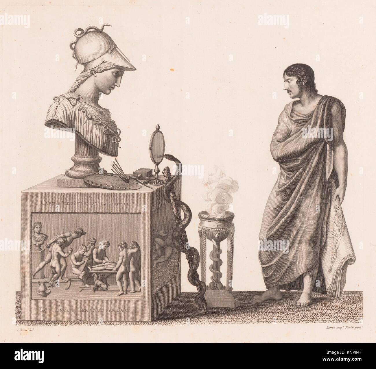 Anatomie du gladiateur combattant applicable aux beaux arts, ou Traité des os, des muscles, du mécanisme de mouvemens, de proportions et des Stock Photo