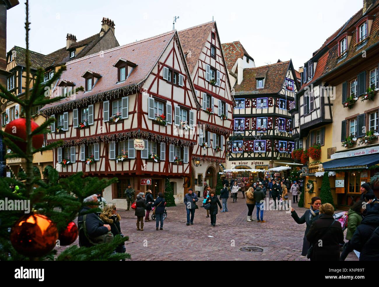 Colmar Christmas Market.Colmar Christmas Market Stock Photos Colmar Christmas