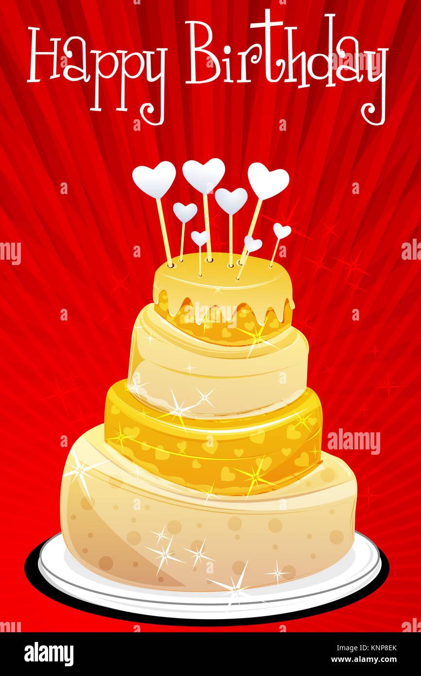 Wedding Cake Card Design Abstract Stock Photos Wedding Cake Card