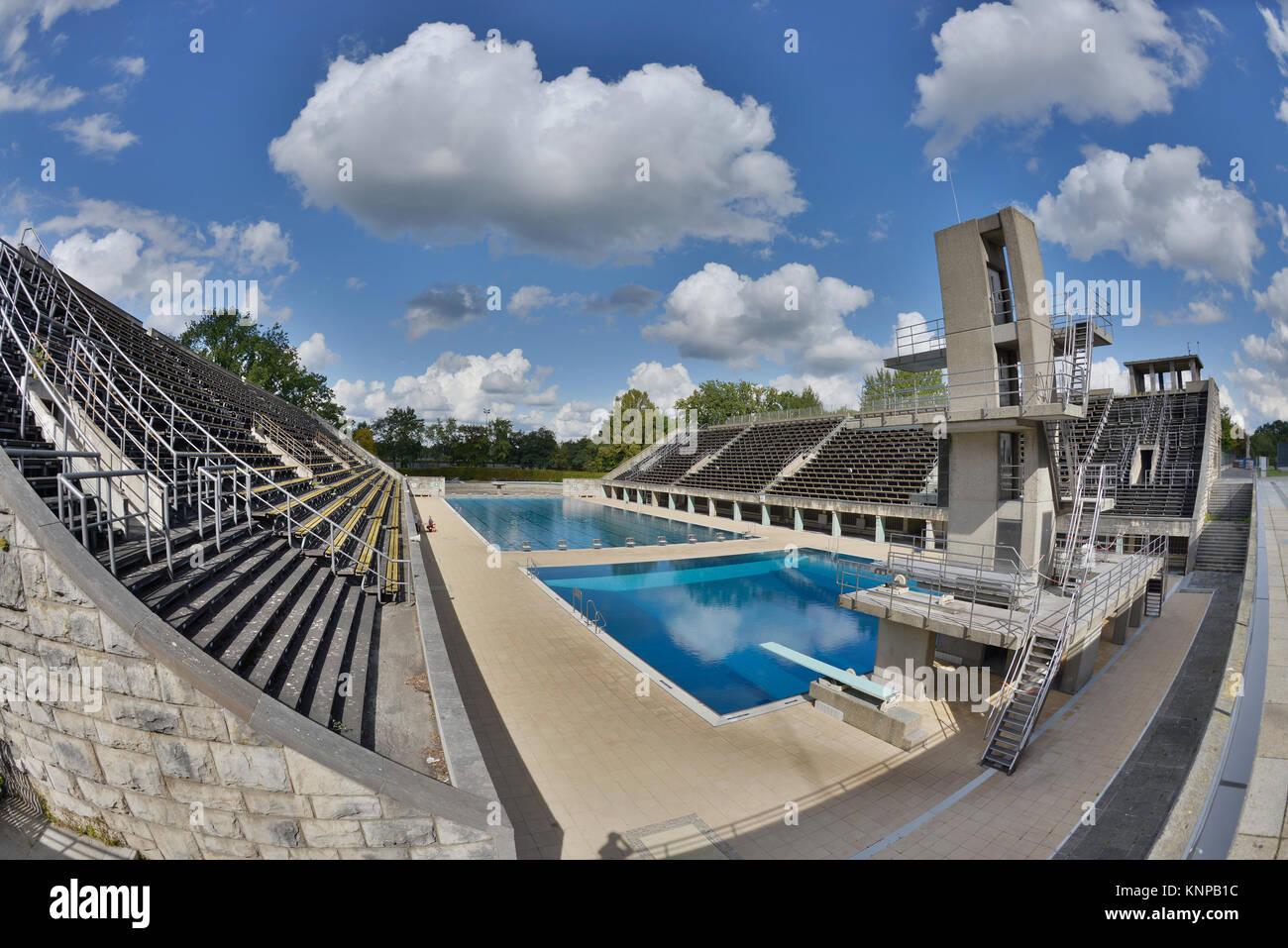 Olympic swimming stadium, Westend, Charlottenburg, Berlin, Germany, Olympisches Schwimmstadion, Deutschland - Stock Image