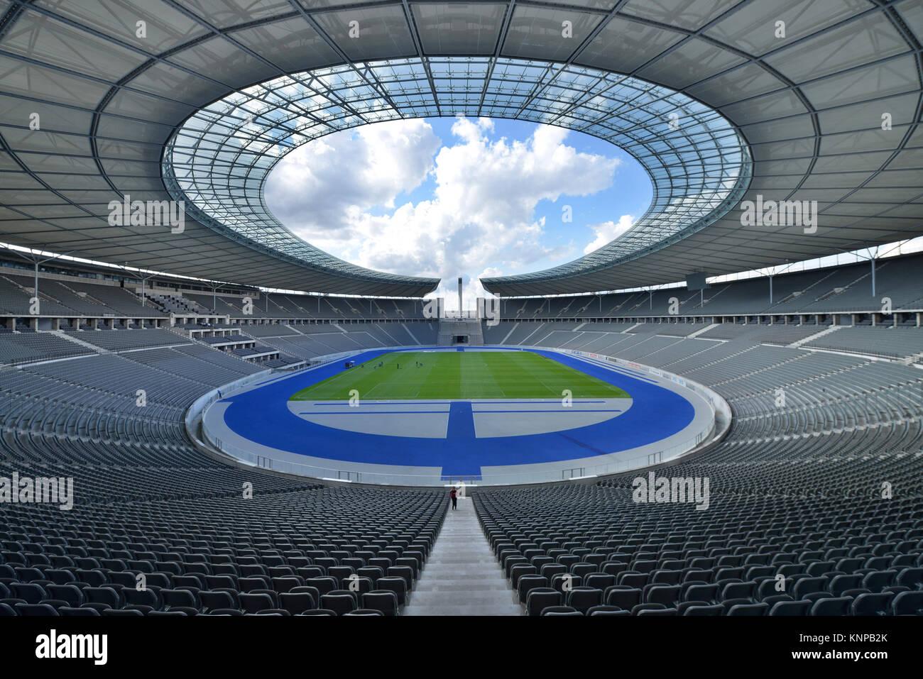 Olympic stadium, Westend, Charlottenburg, Berlin, Germany, Olympiastadion, Deutschland - Stock Image