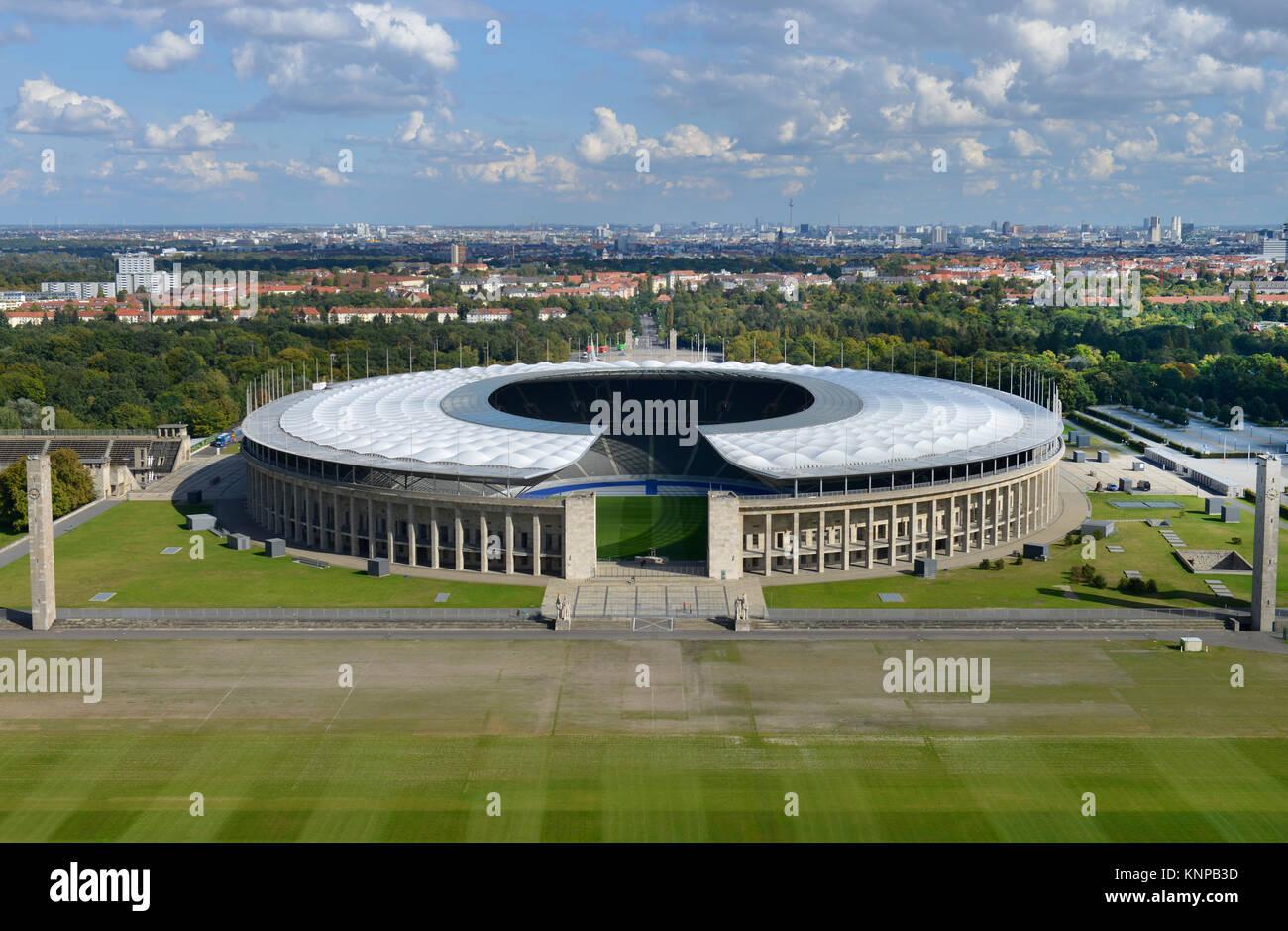 May field, Olympic stadium, Westend, Charlottenburg, Berlin, Germany, Maifeld, Olympiastadion, Deutschland - Stock Image