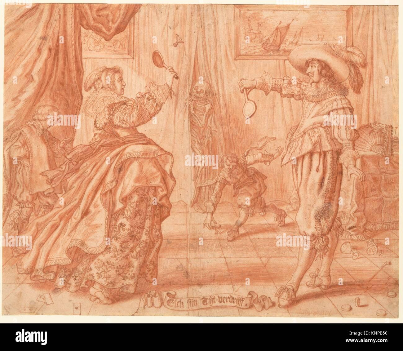 To Each His Own Pastime, Elck Sijn Tijt-Verdrijff. Artist: Adriaen van de Venne (Dutch, Delft 1589-1662 The Hague); - Stock Image
