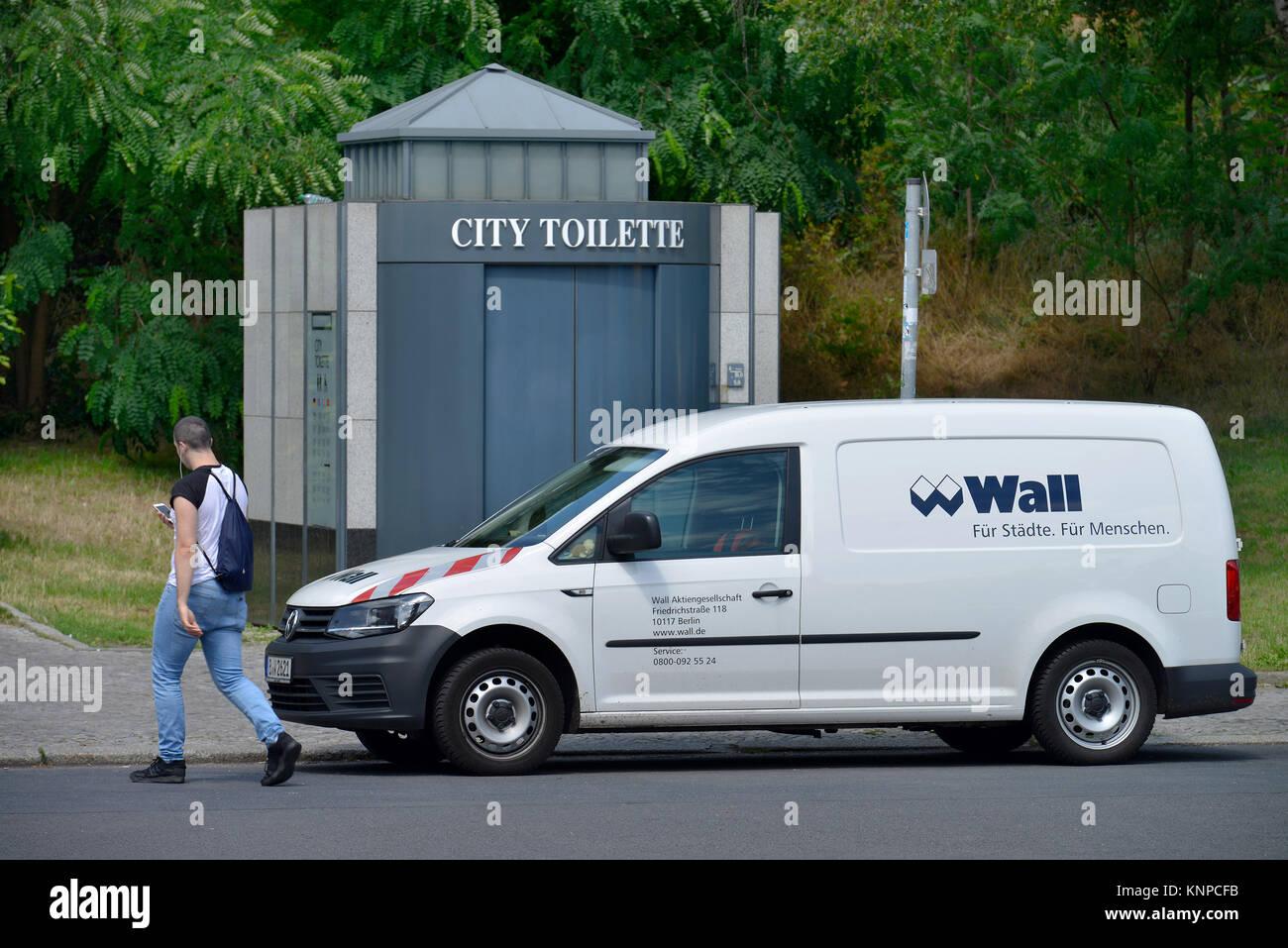 City toilet, city hall, Hanna-Renate-Laurien-Platz, Leonorenstrasse, Lankwitz, Steglitz-Zehlendorf, Berlin, Germany, Stock Photo