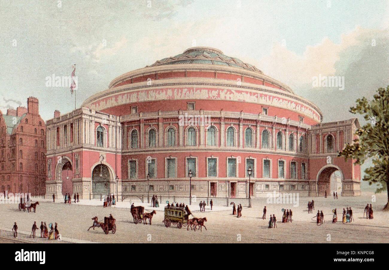 The Albert Hall,London, Victorian illustration - Stock Image