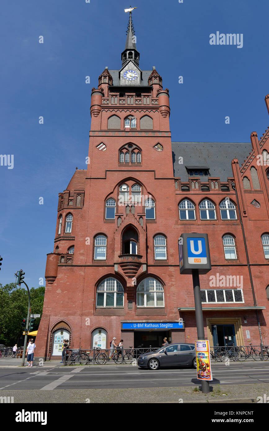 Old city hall, Schlossstrasse, Steglitz, Steglitz-Zehlendorf, Berlin, Germany, Altes Rathaus, Deutschland - Stock Image