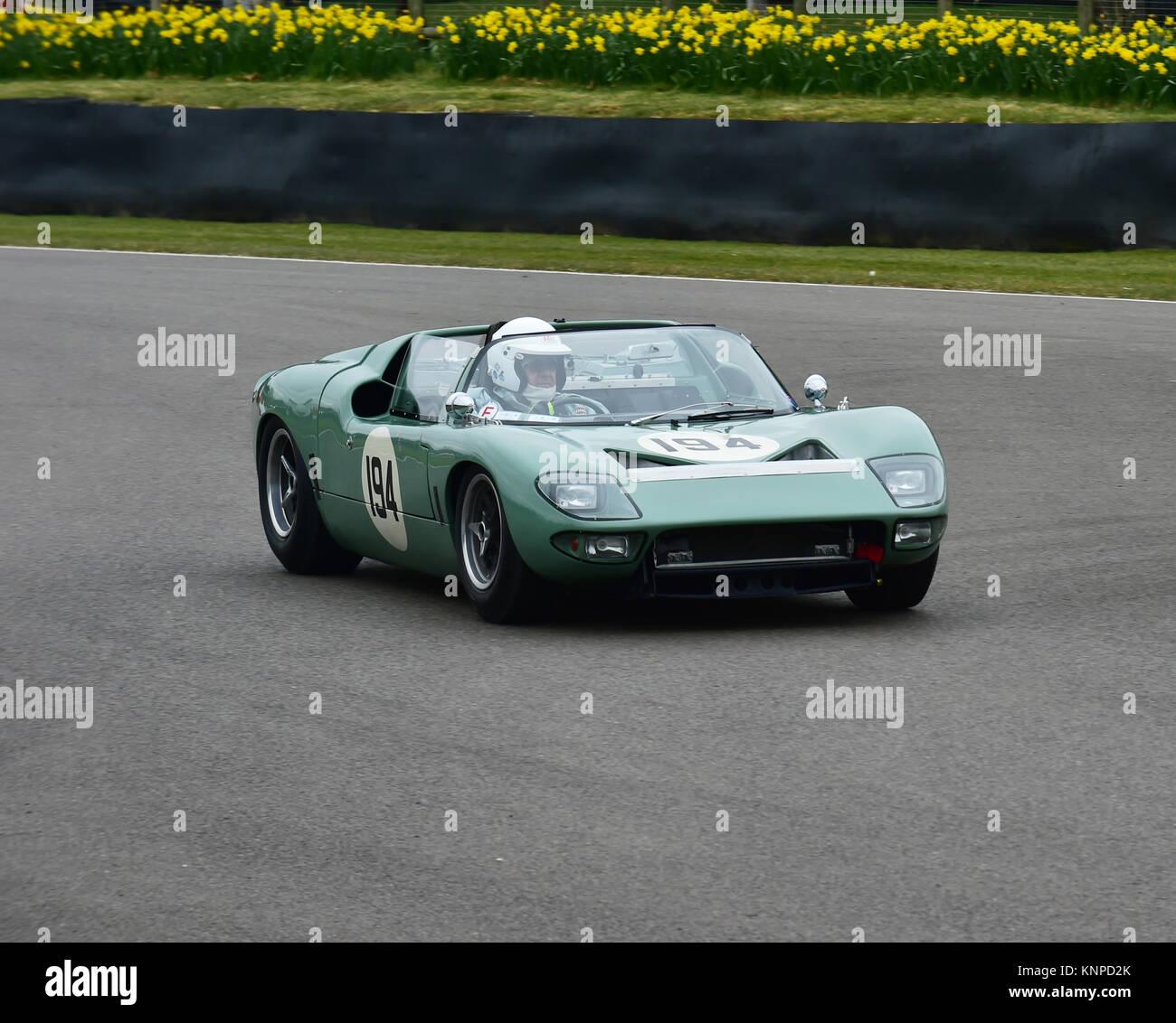 Rui Macedo Silva, Pedro Macedo Silva, Ford GT40 Roadster, Alan Mann trophy, Goodwood 74th Members Meeting, cars, Stock Photo
