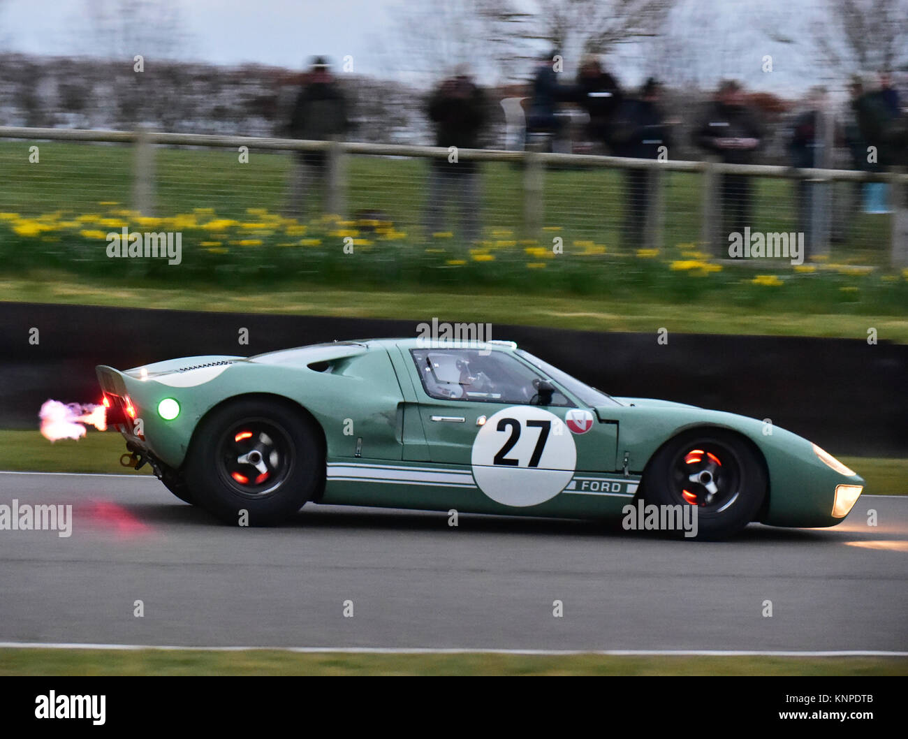 Michael Gans, Andrew Wolfe,Ford GT40, Alan Mann Trophy, Goodwood Members  Meeting