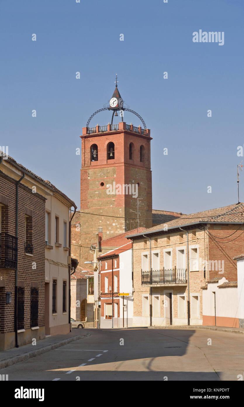 village of Osorna la Mayor, Tierra de Campos Region, Palencia province, Spain - Stock Image