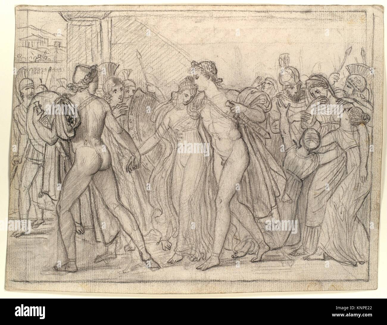 Group of studies for Castor and Pollux Freeing Helen (see attached list). Artist: Joseph-Ferdinand Lancrenon (French, Stock Photo