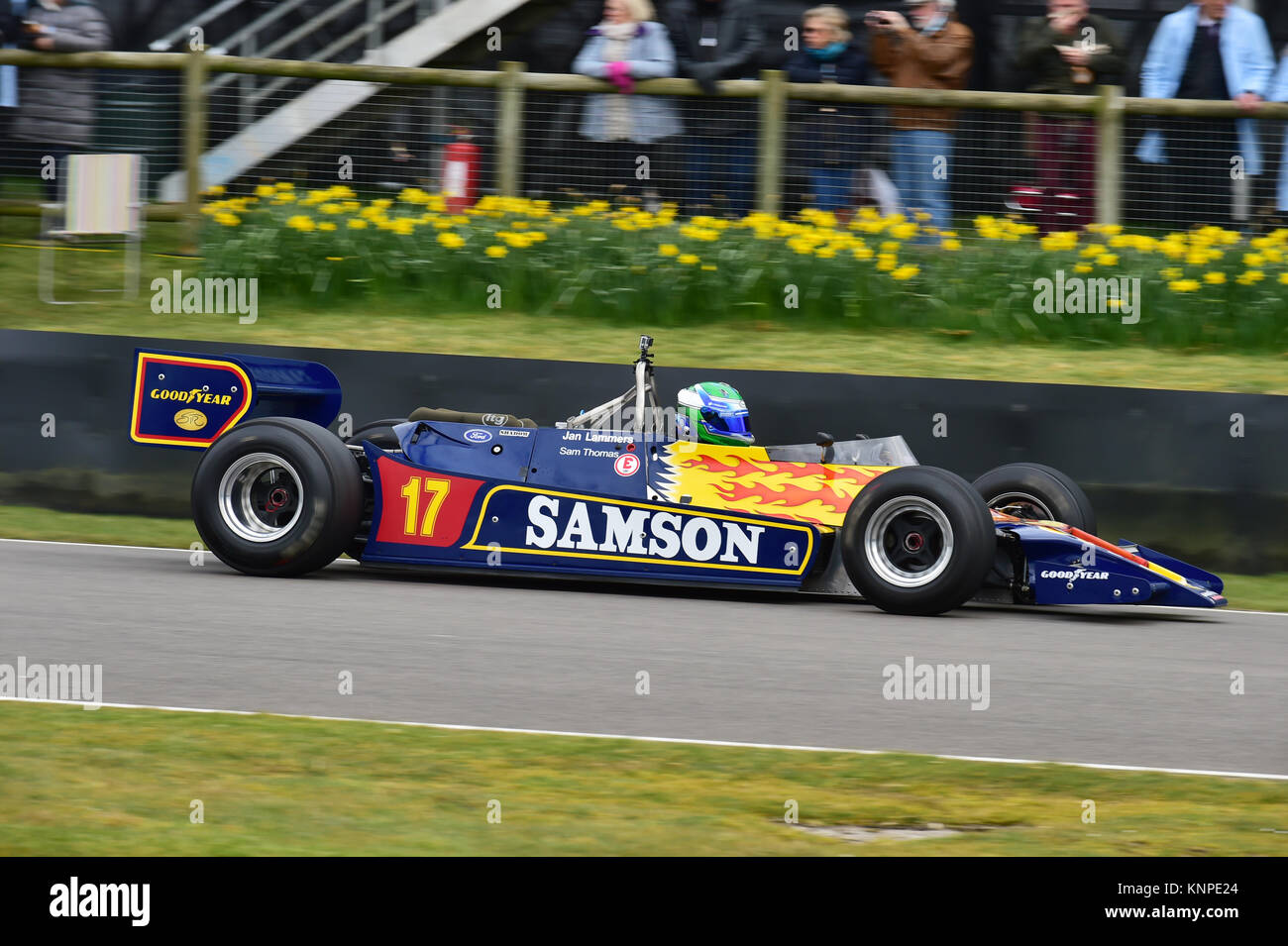 Sam Thomas, Shadow Cosworth DN9, Ground effect Grand Prix cars, Goodwood 74th Members Meeting, 74th members Meeeting, - Stock Image