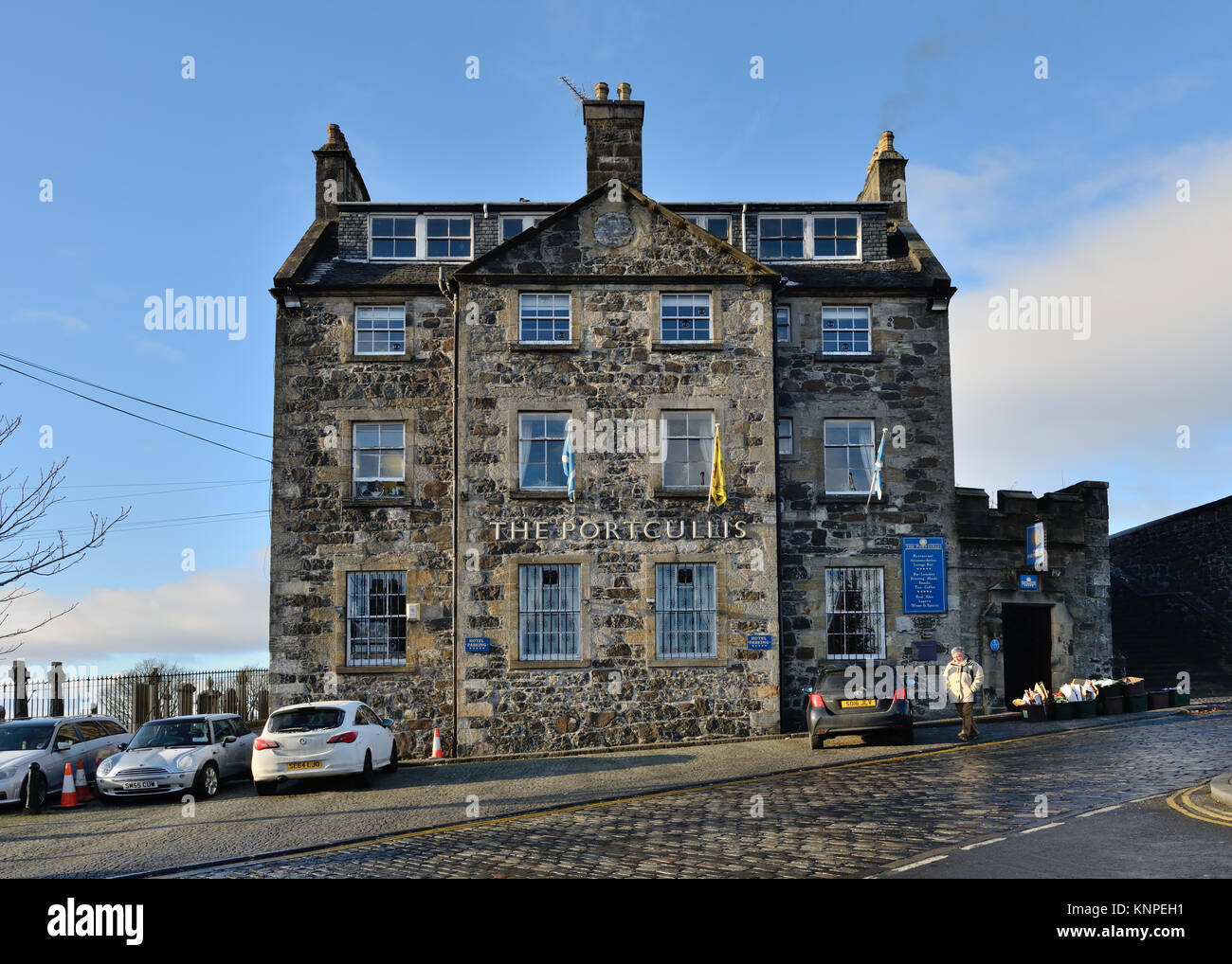 The Portcullis Hotel and restaurant in Stirling, Scotland, UK - Stock Image