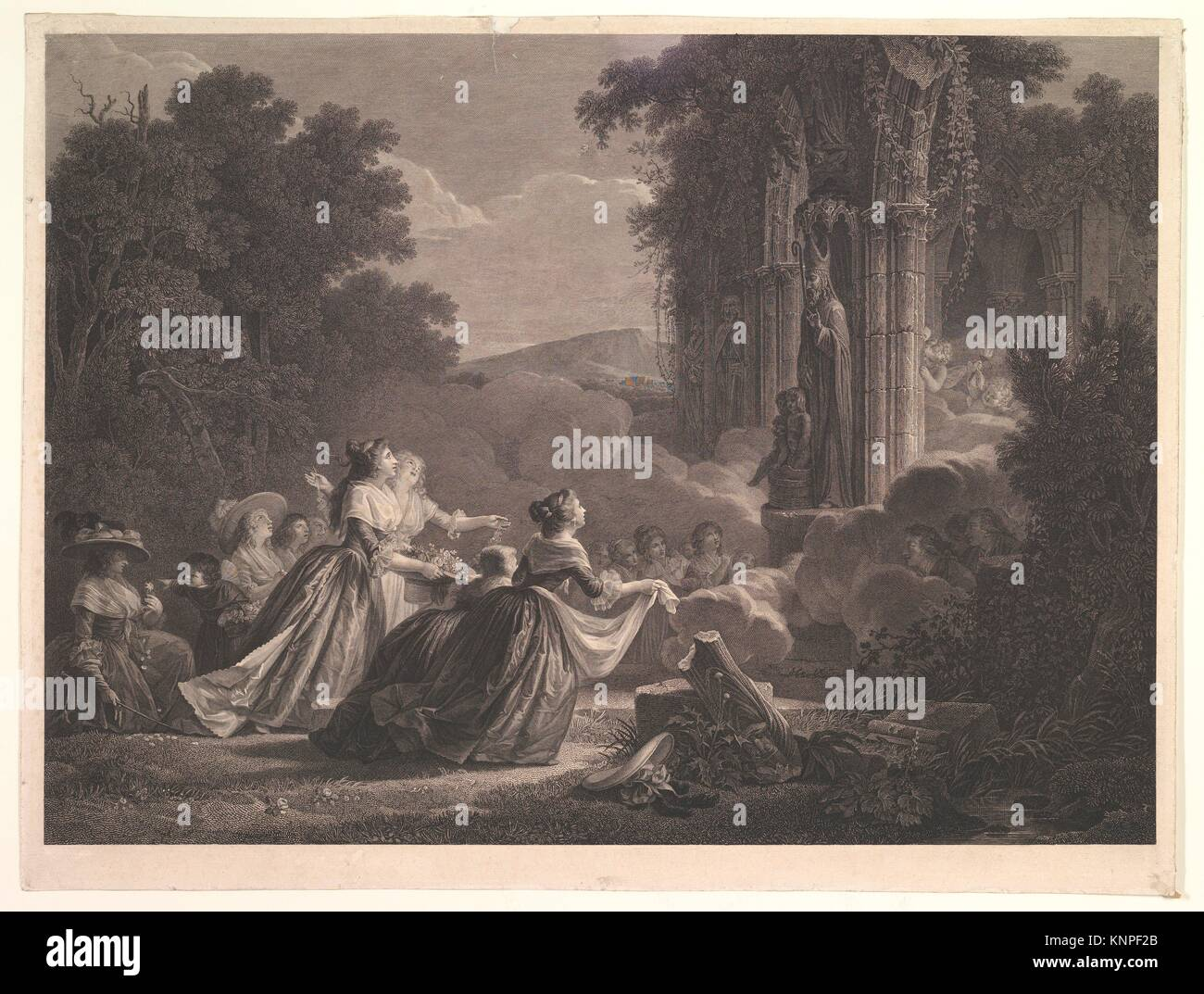 Pelerinage a Saint Nicolas. Artist: After Jean Honoré Fragonard (French, Grasse 1732-1806 Paris); Date: n.d; - Stock Image