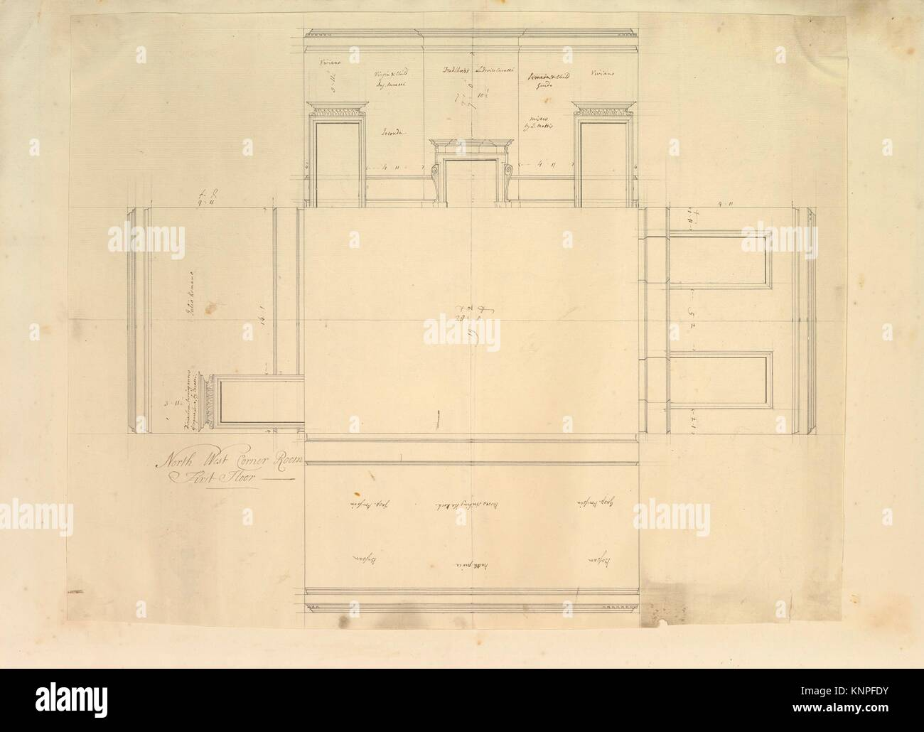 Treasury House 10 Downing Street London Plan Of The End Room Below Stock Photo Alamy