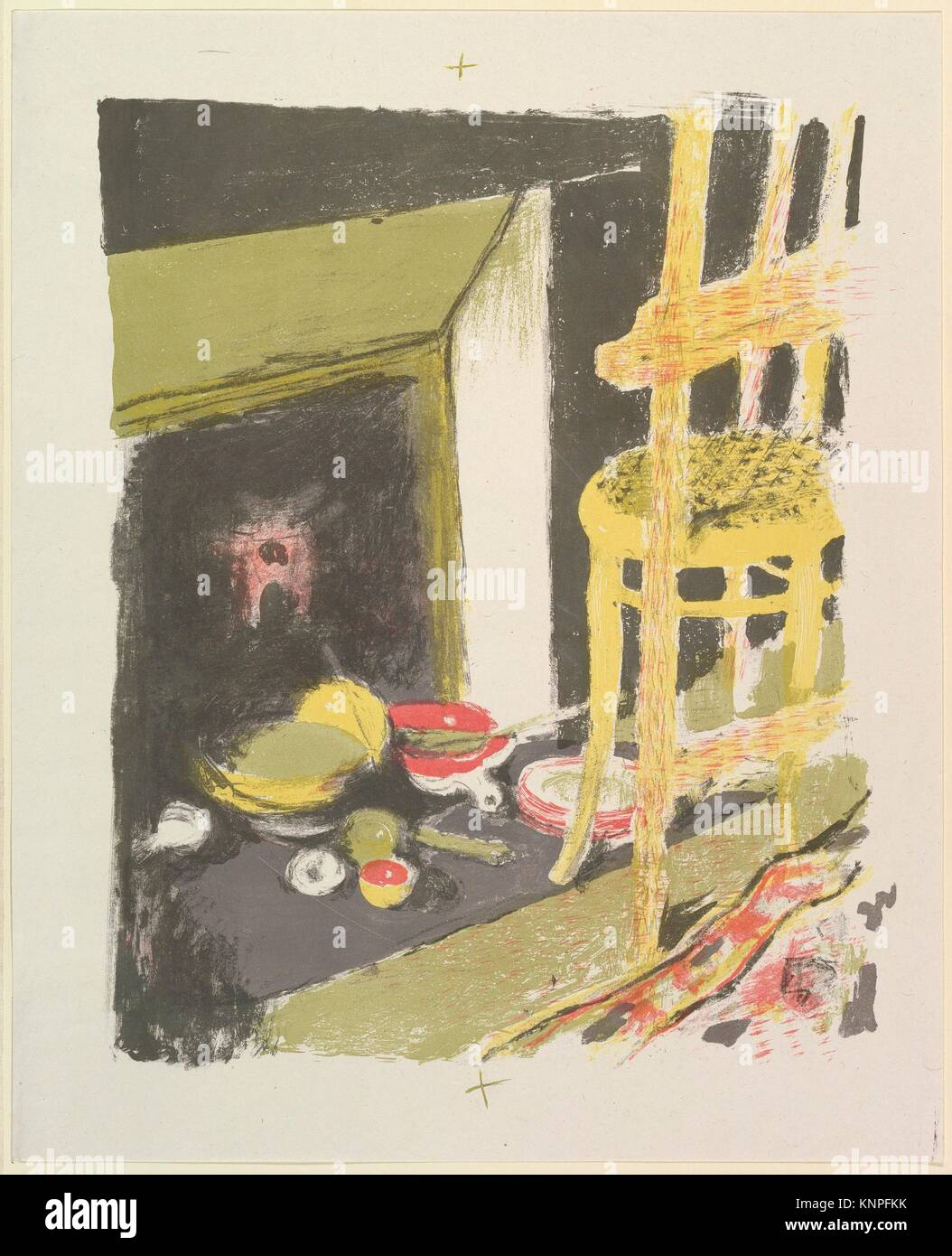 The Hearth, from the series Landscapes and Interiors. Artist: Édouard Vuillard (French, Cuiseaux 1868-1940 - Stock Image