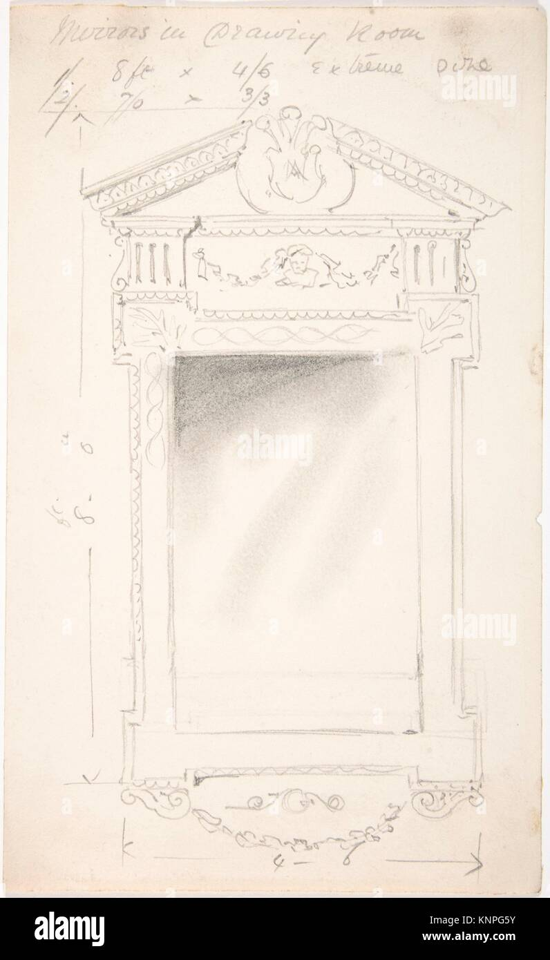 Design for a Drawing Room Mirror, for 11 Princes Gate, London Stock on