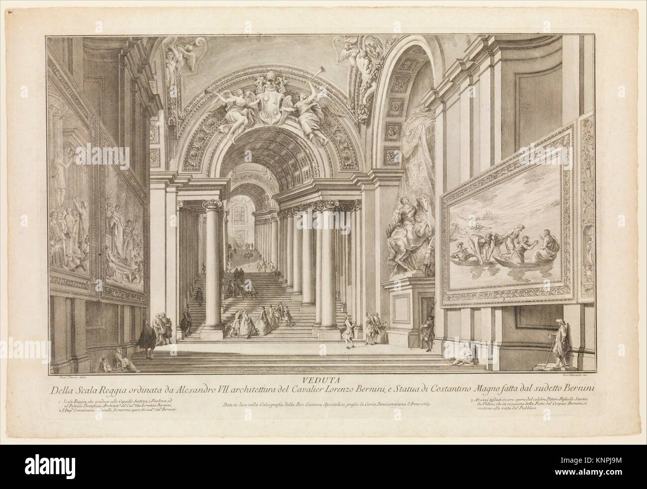 View of the Scala Reggia ordered by Alesandro VII (Vedute Della Scala Reggia ordinata da Alesandro VII). Artist: - Stock Image