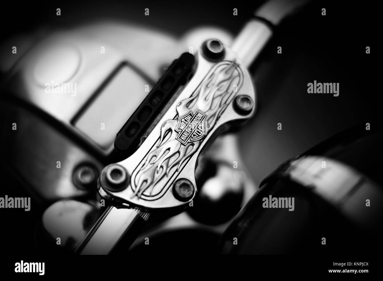 Harley Davidson handlebars - Stock Image