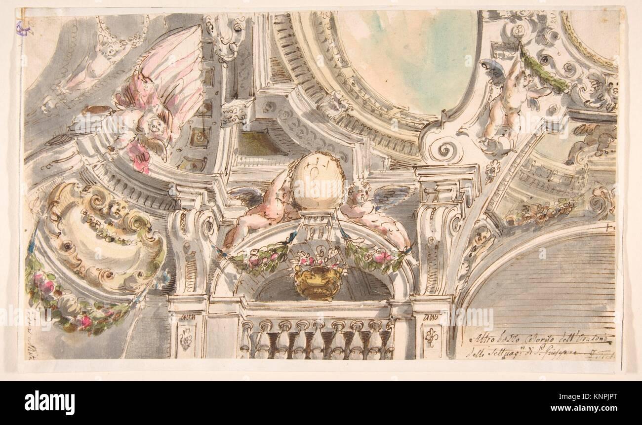 Design for a Ceiling. Artist: Attributed to Faustino Trebbi (Italian, Budrio [Bologna] 1761-1836 Bologna); Medium: - Stock Image