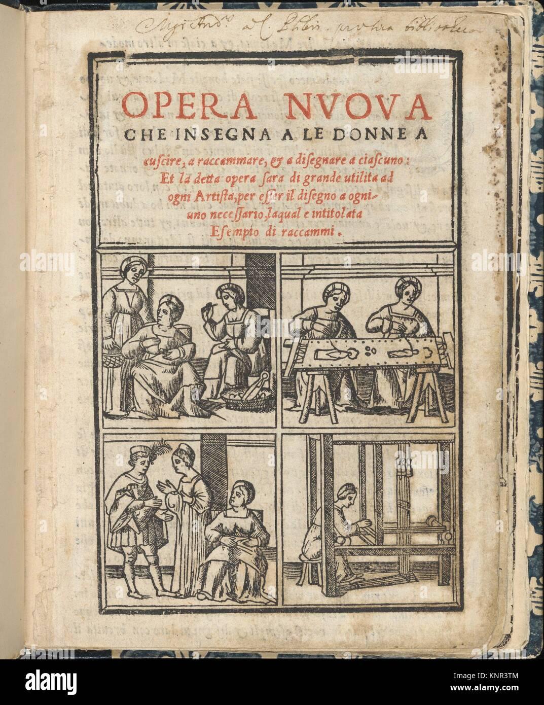 Essempio di recammi. Author: Giovanni Antonio Tagliente (Italian, Venice ca. 1465-1528 Venice); Publisher: Giovanni - Stock Image