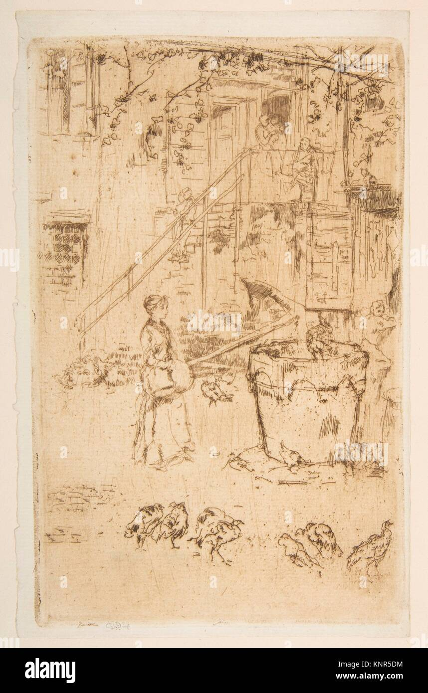 Turkeys. Series/Portfolio: Second Venice Set (A Set of Twenty-Six Etchings by James A. McN. Whistler, 1886); Artist: - Stock Image