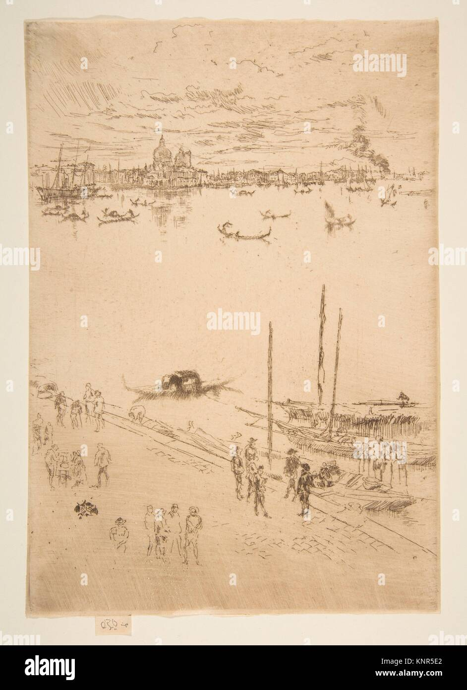 Upright Venice. Series/Portfolio: Second Venice Set (A Set of Twenty-Six Etchings by James A. McN. Whistler, 1886); - Stock Image
