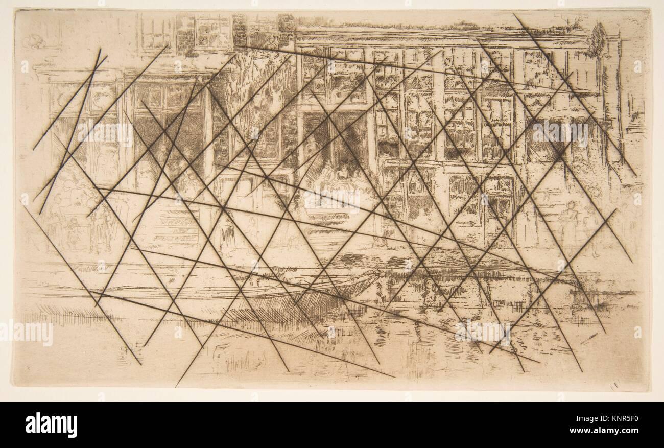 Jews' Quarter, Amsterdam. Artist: James McNeill Whistler (American, Lowell, Massachusetts 1834-1903 London); - Stock Image
