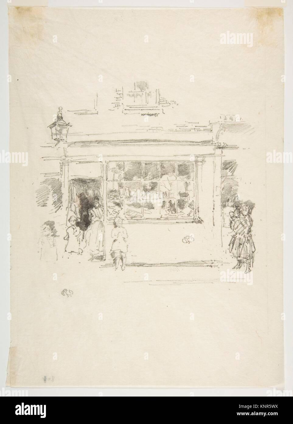 Drury Lane Rags. Artist: James McNeill Whistler (American, Lowell, Massachusetts 1834-1903 London); Date: 1888; - Stock Image