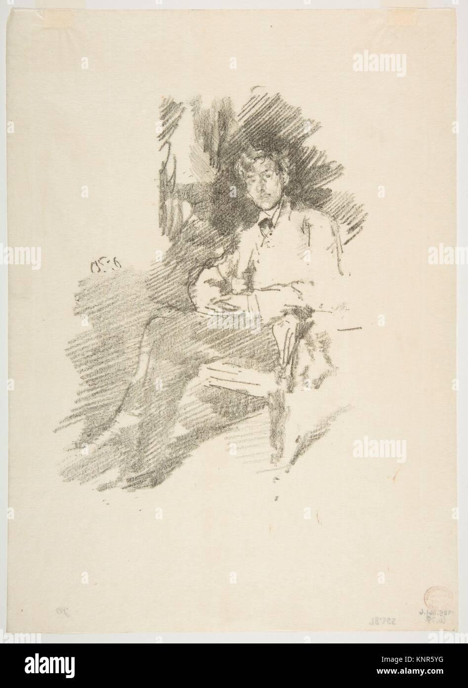 Walter Sickert. Artist: James McNeill Whistler (American, Lowell, Massachusetts 1834-1903 London); Date: 1895, printed - Stock Image