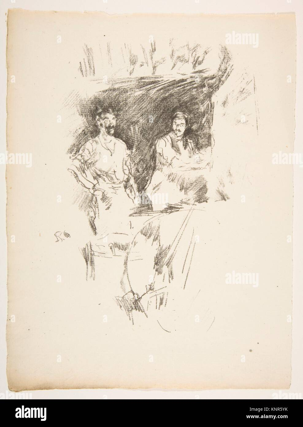The Brothers. Artist: James McNeill Whistler (American, Lowell, Massachusetts 1834-1903 London); Date: 1895-96; - Stock Image