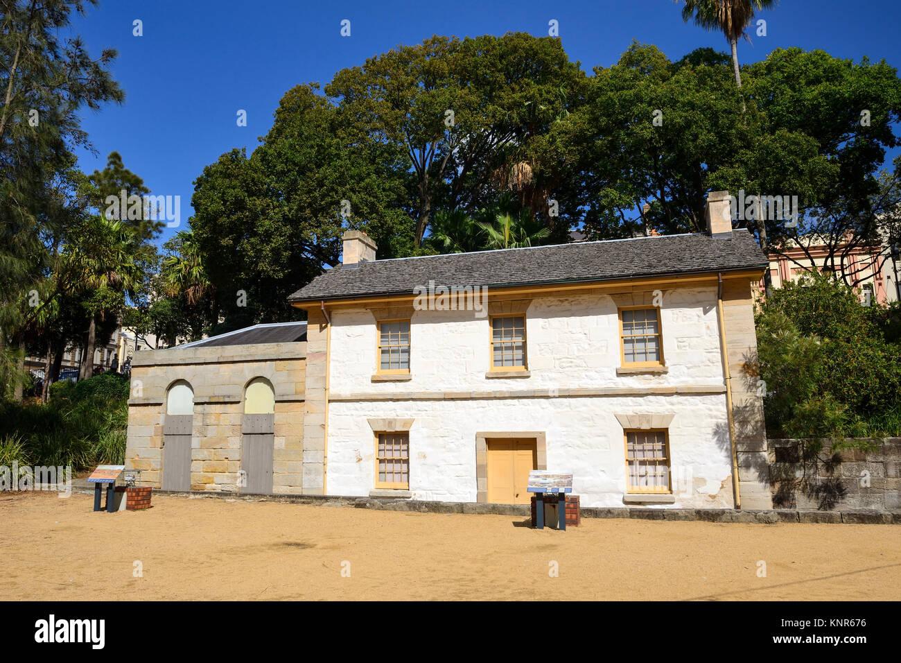 Cadmans Cottage, The Rocks, Sydney, New South Wales, Australia - Stock Image