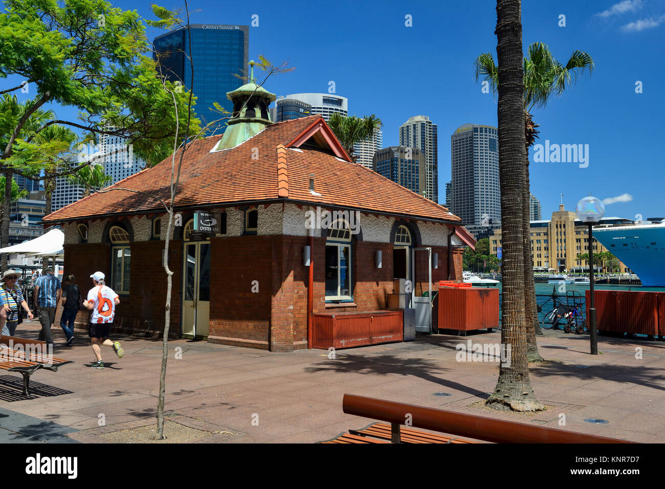 Sydney Cove Oyster Bar on east side of Circular Quay, Sydney, New South Wales, Australia - Stock Image