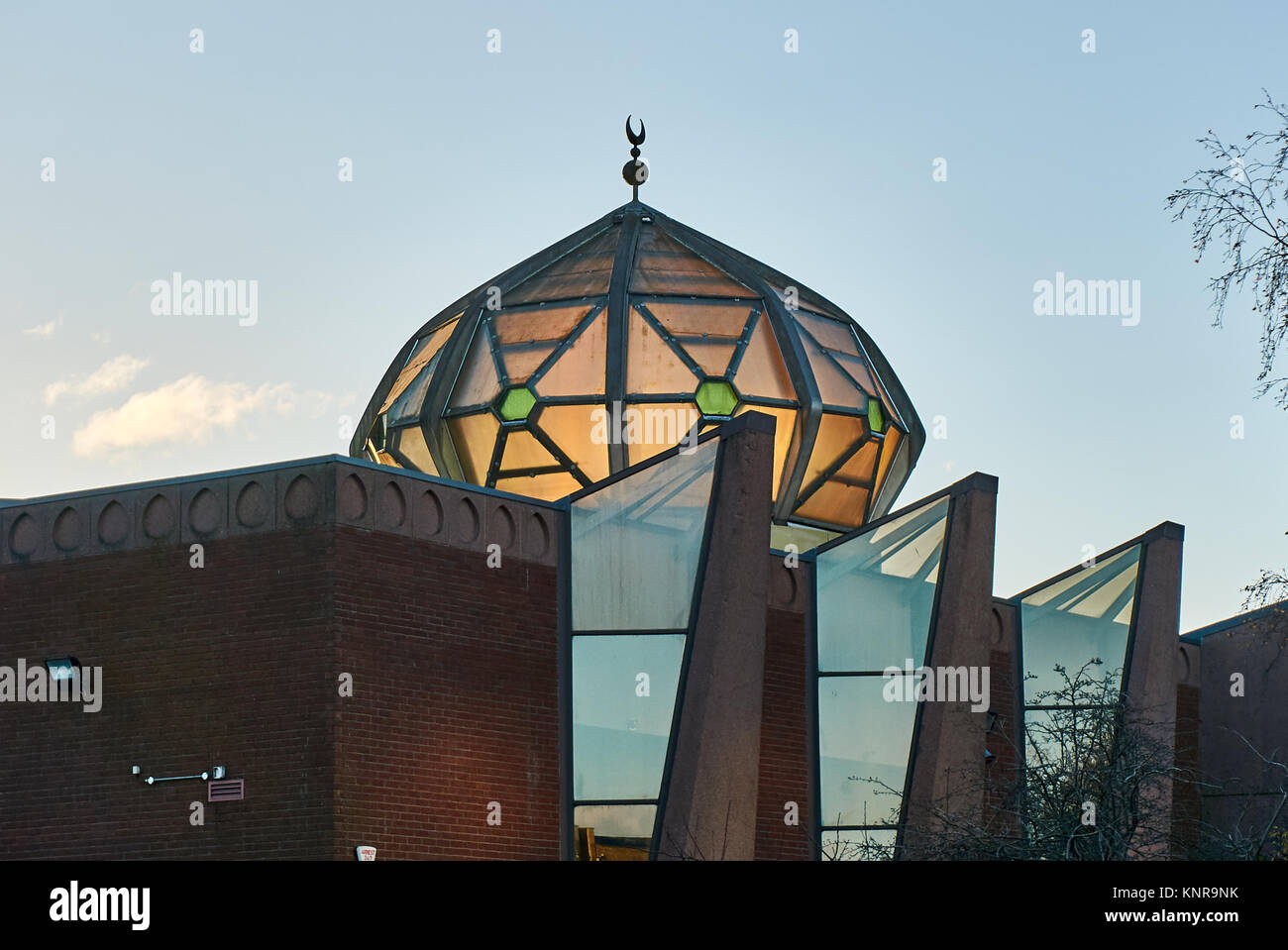 Glasgow Central Mosque in the Gorbals district Glasgow. The organization, 'Muslims in Britan' classify the - Stock Image