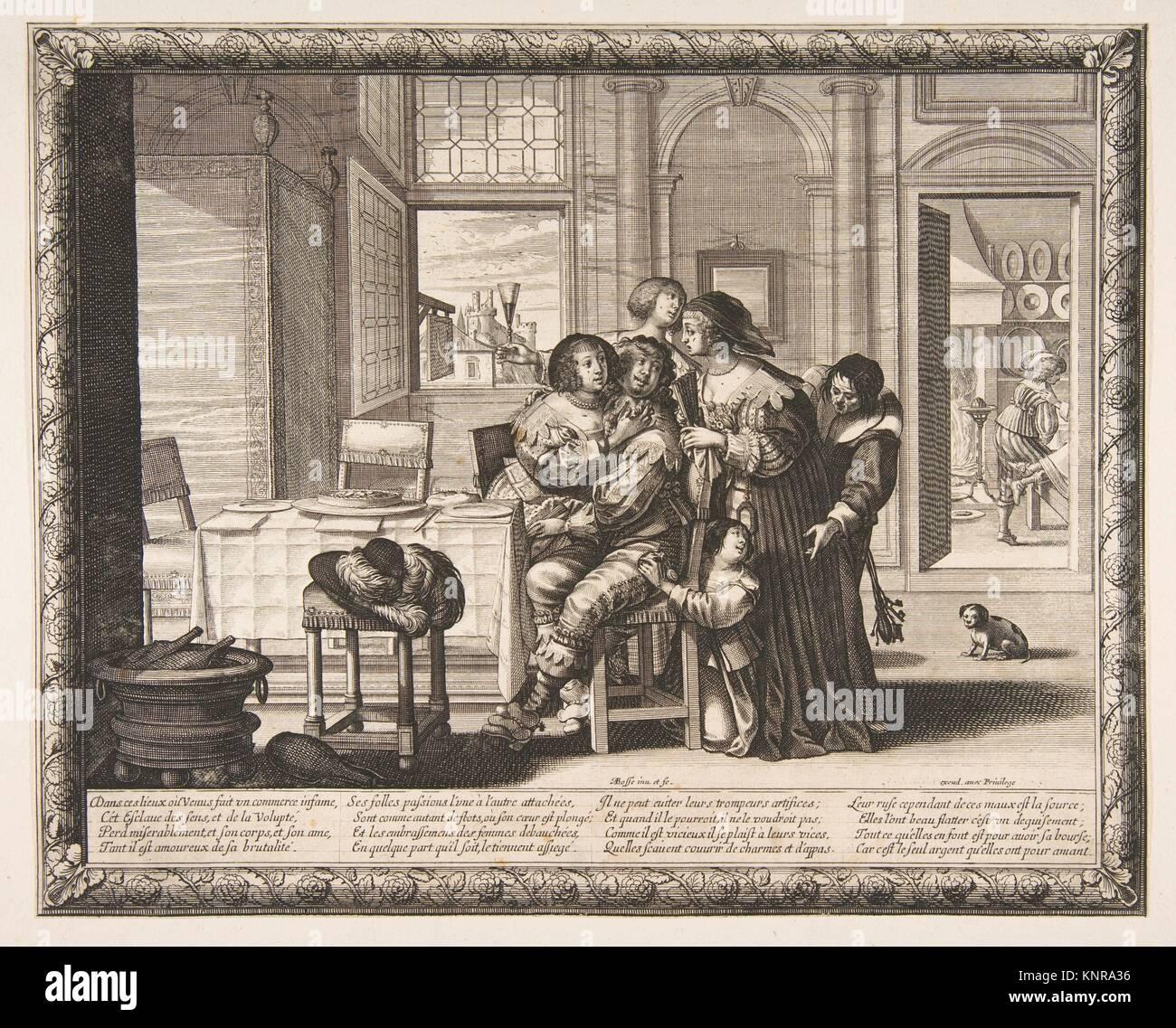 The Prodigal Son in a House of Ill Repute (L'Enfant prodigue dans une maison de débauche, version couvert). - Stock Image
